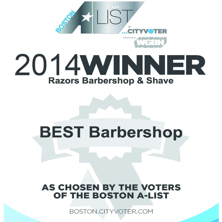 Voted 2014 WGBH Boston's A-list Best Barbershop