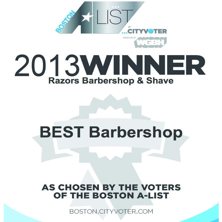 Voted 2013 WGBH Boston's A-list Best Barbershop