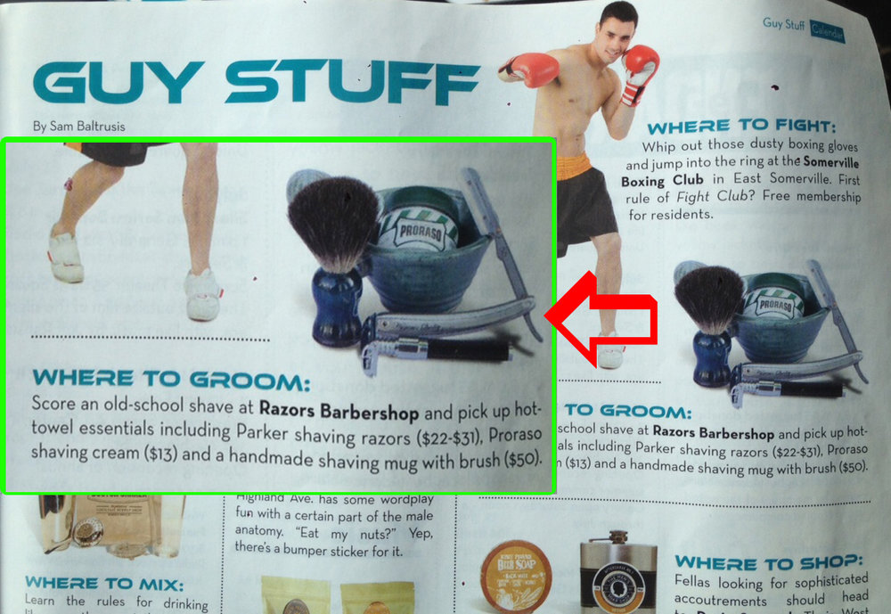 "Featured in the ""Guy Stuff"" edition of Scout Somerville Magazine"