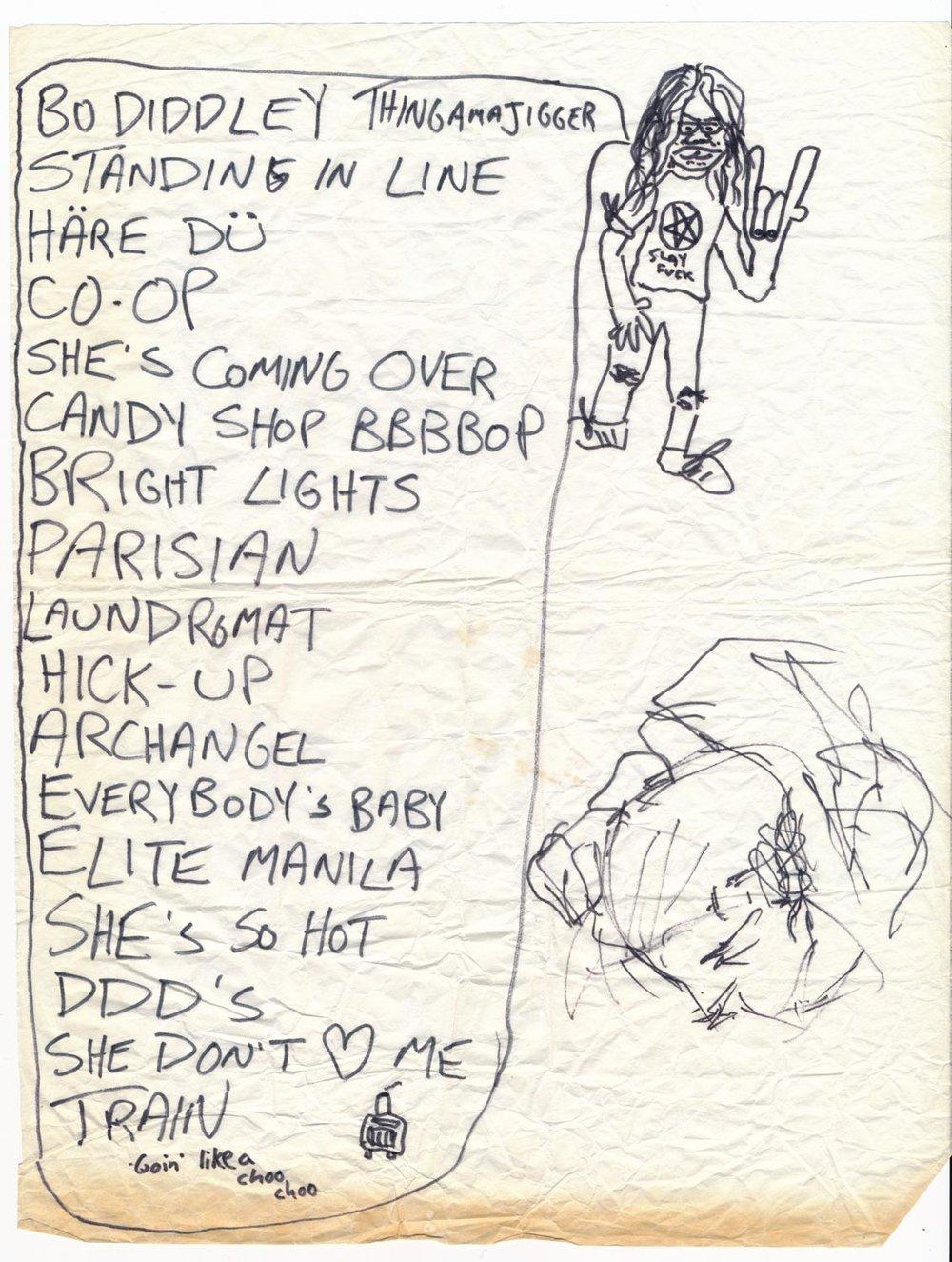 A Jon Q setlist