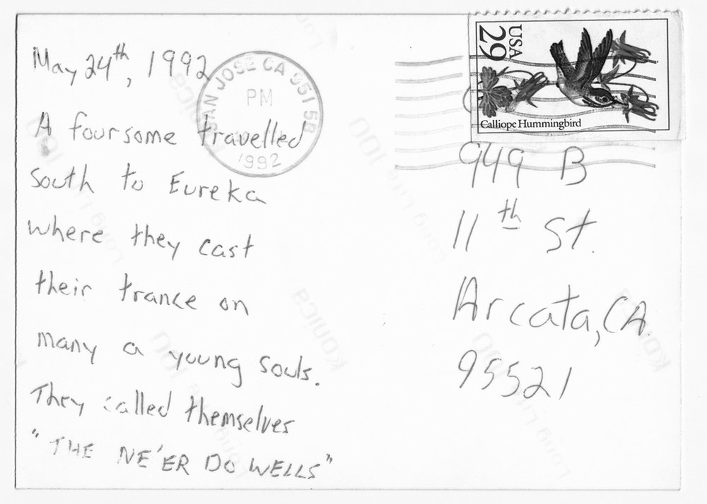 Postcard from John (Jess?) to Chris on the occasion of his birthday...?