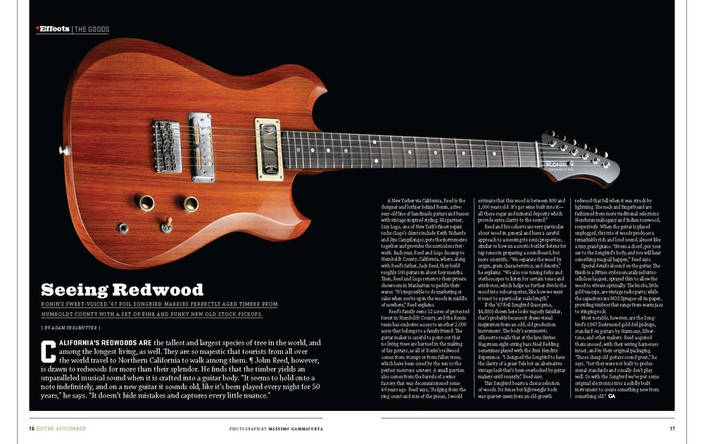 guitar aficionaod review of the ronin songbird by adam perlmutter