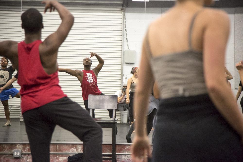 jay jay dixon (behind the scenes rehearsal)