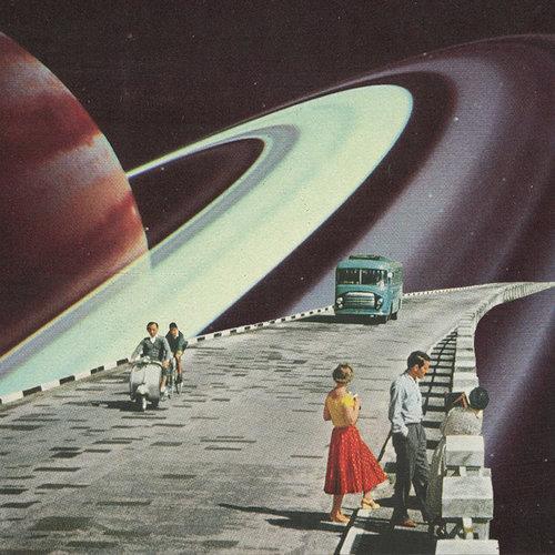 Rare Wonderful 1950s Space Art: Leaf And Petal Design