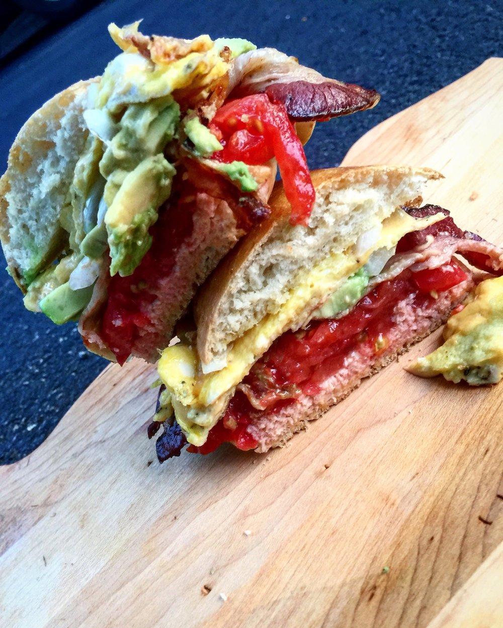 bacon avocado breakfast