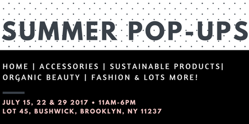 Shop from local artists at our summer pop-up market by www.solstreet.co