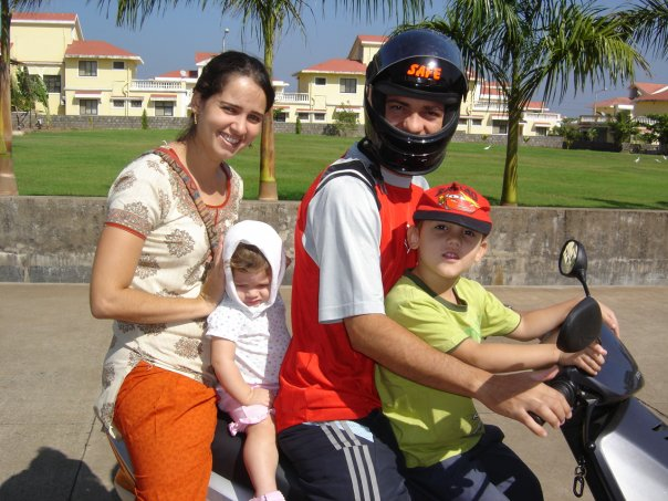 My Brazilian friend and her famly