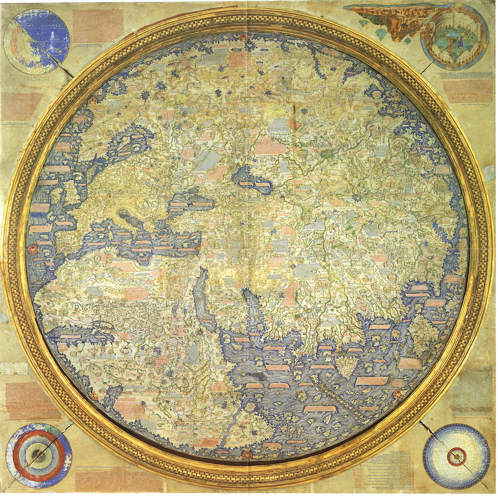 European world map from 1459. Note that North and South America was not discovered and therefore not on the map.
