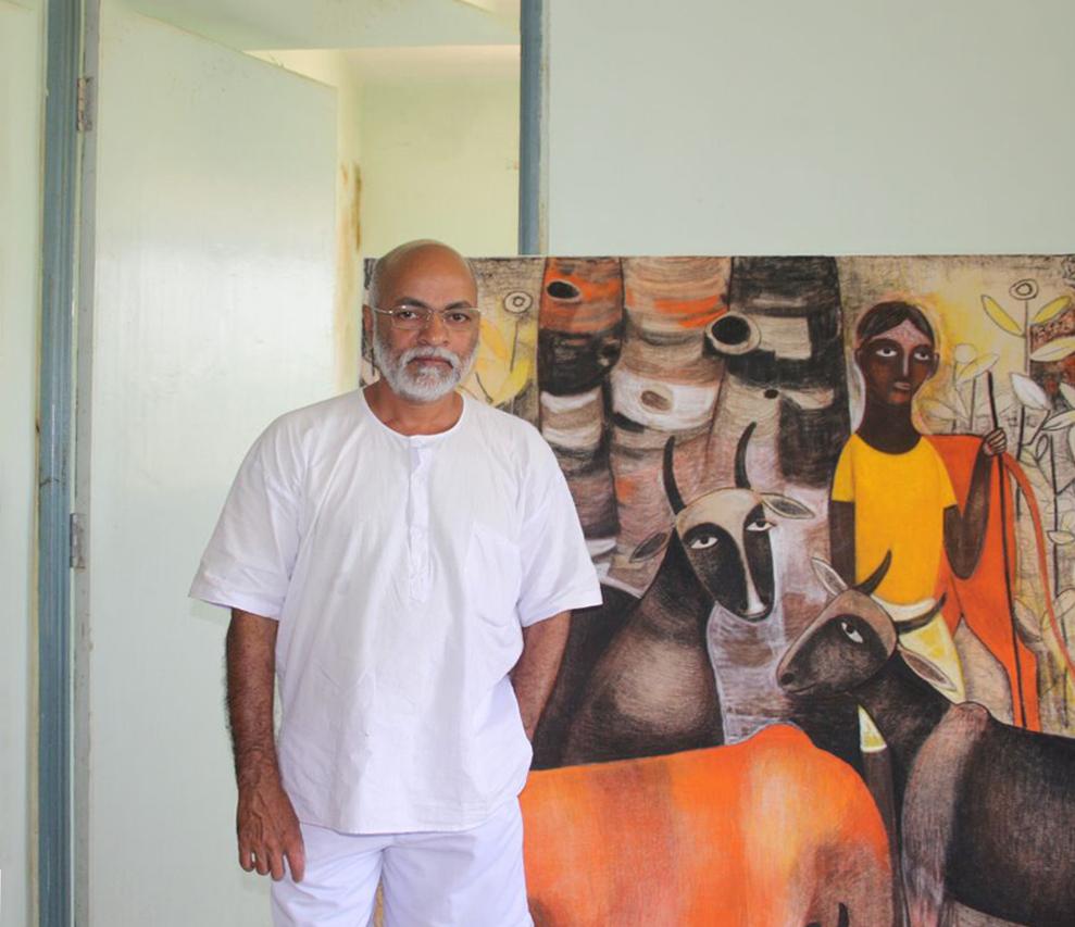 Mohan Naik in his studio.