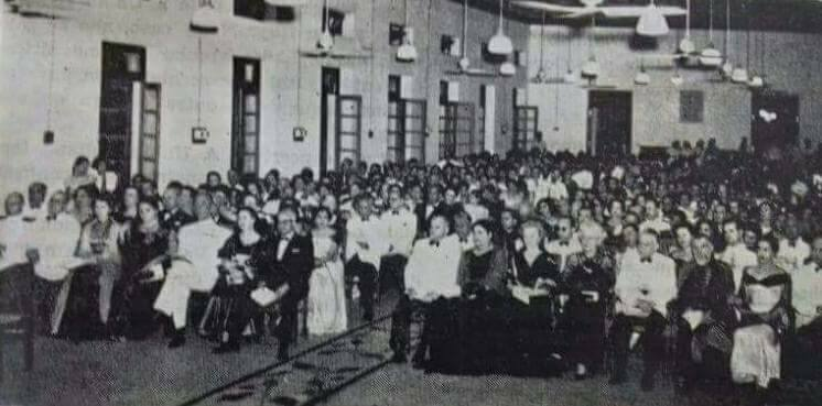 Gathering at Instituto Vasco da Gama c. 1950. Increasingly Panjim enjoyed a Eurocentric lifestyle; its demographics comprising of a predominantly literate, Catholic population.