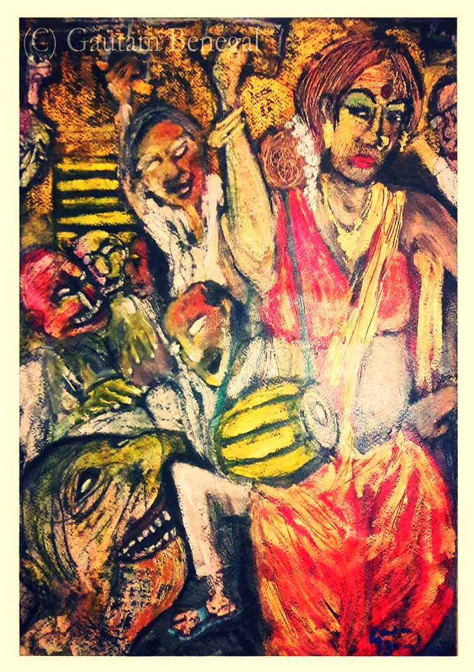 Art work entitled 'Hijra' by Gautam Benegal.