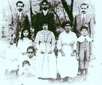 Seen here Ralph A. Nazareth (Lawrence's grand-uncle) with his family. He and his brother J. A. Nazareth rose to prominence when in 1903 they landed the catering contract for the Uganda Railway.