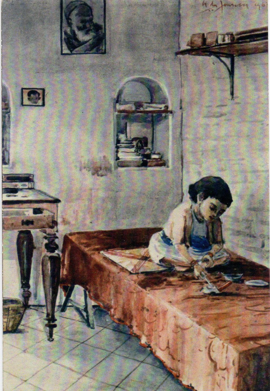 Yessonda in Fonseca's studio c 1960-1965