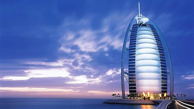 Dubai United Arab Emirates 🇦🇪 Fun Fact: The Burj al-Arab luxury hotel is the 4th tallest hotel in the world 🌎