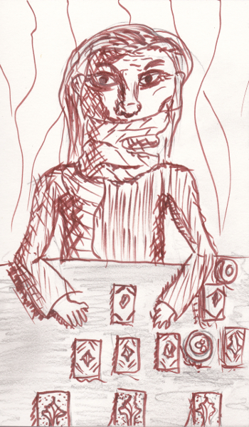 365 Sketch 2015: Day 53: Hand of Fate