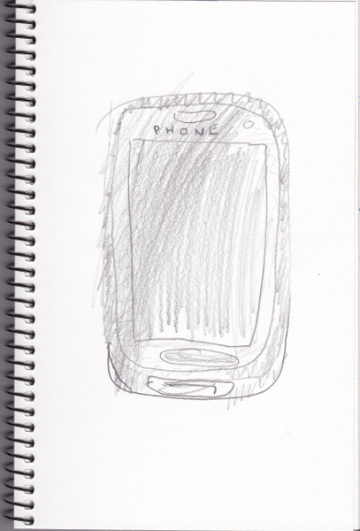 365 Sketch 2015: Day 72: Phone