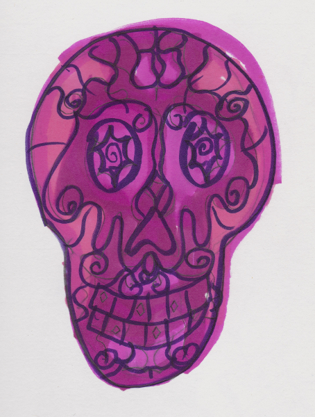 365 Sketch 2015: Day 69: Sugar Skull