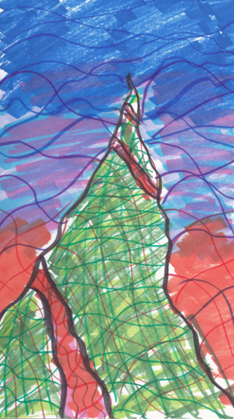 365 Sketch 2015: Day 72: The Mountain