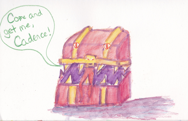 365 Sketch 2015: Red Chest Mimic