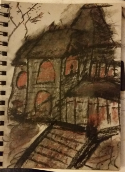 Drawlloween 2015: Day 7: Haunted House