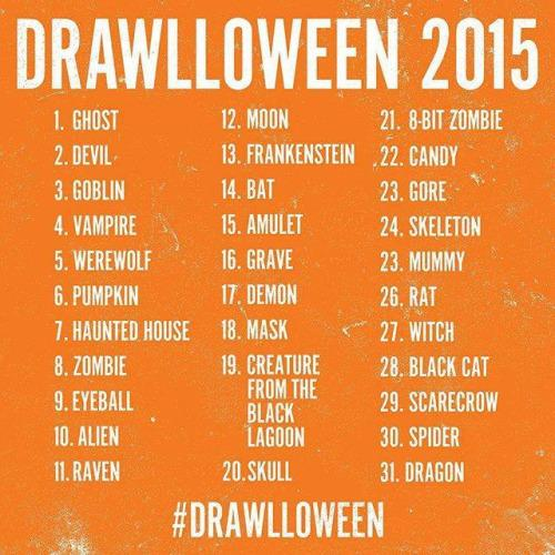 Drawlloween 2015 Prompt