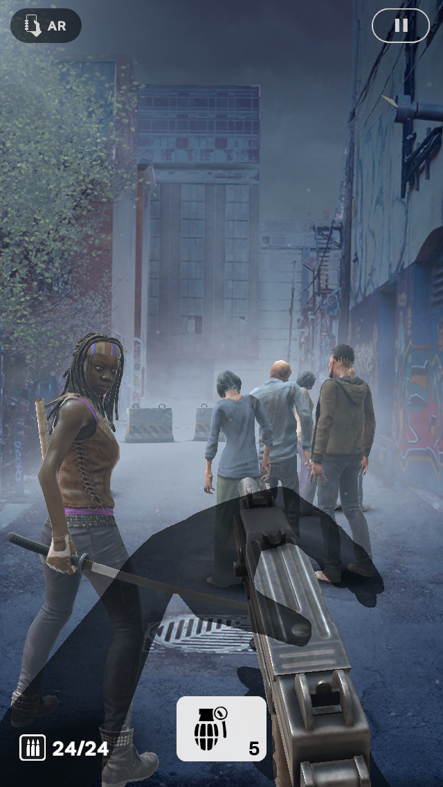 - The Walking Dead: Our World lets you turn your neighborhood into the zombie apocalypse, battling zombies with help from popular show characters like Michonne.