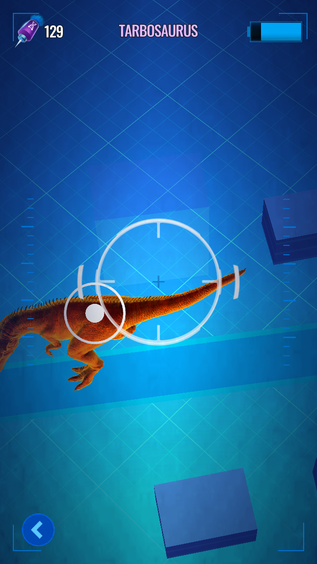 - Jurassic World Alive has you aim darts fired from a drone at a moving target on a dinosaur. It's...about as fun as it sounds.