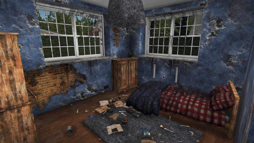 The houses in  House Flipper  tend to no be in great condition, with paint crumbling off walls, garbage everywhere, and home furnishings that have seen better days.