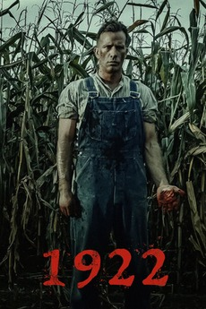 1922  movie poster, featuring Wilf standing in the cornfield with a bloodied hand.