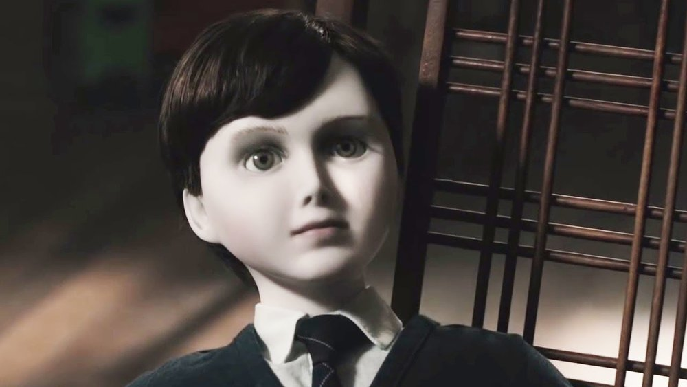 Brahms is a terrifying figure. A whole film could be built around a prop as terrifying as this pale porcelain doll with dark hair and dark clothes.