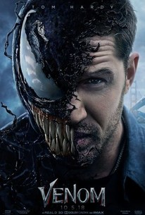 Venom  poster, featuring Eddie Brock transforming into the titular monster/hero.