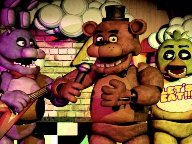 All your favorite killer animatronics are in  The Silver Eyes , including Bonnie, Freddy Fazbear, and Chica.