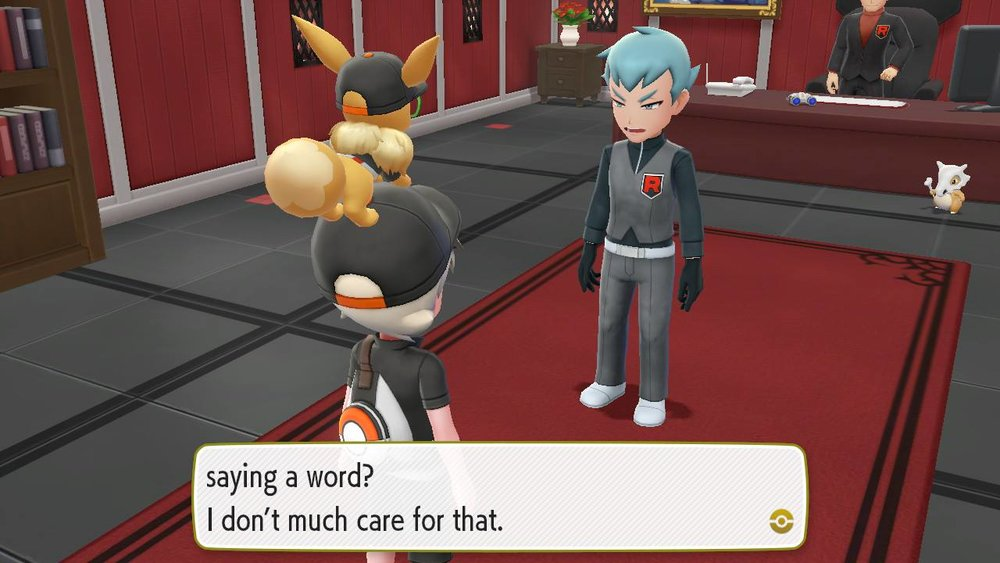 Oh look, it's the exact same characters, task, map, and design again in a  Pokemon  game.