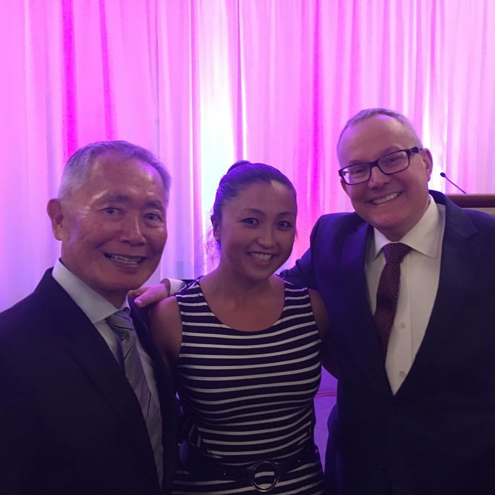 With George & Brad Takei