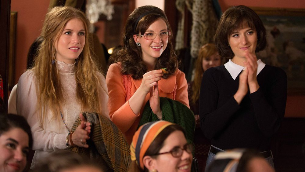 "The Amazon TV series ""Good Girls Revolt"" reenacts what a typical consciousness-raising group might have looked like. One major component, bell hooks writes, was that these groups ""emphasized the importance of learning about patriarchy as a system of domination."""