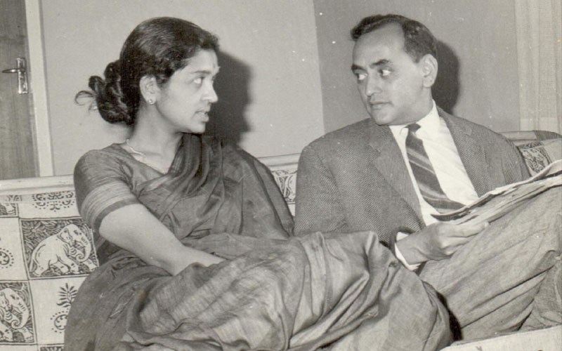 Feminist economist Devaki Jain with her husband, L.C. Jain in 1960s. Photo found on  devakijain.com .