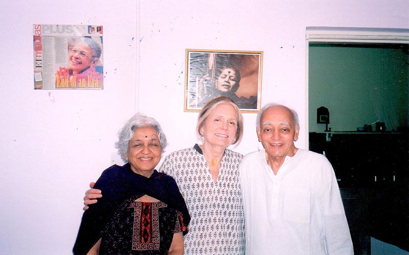 From left to right: Devaki Jain, Gloria Steinem, and Devaki Jain's husband L.C. Jain. Photo found on  devakijain.com .
