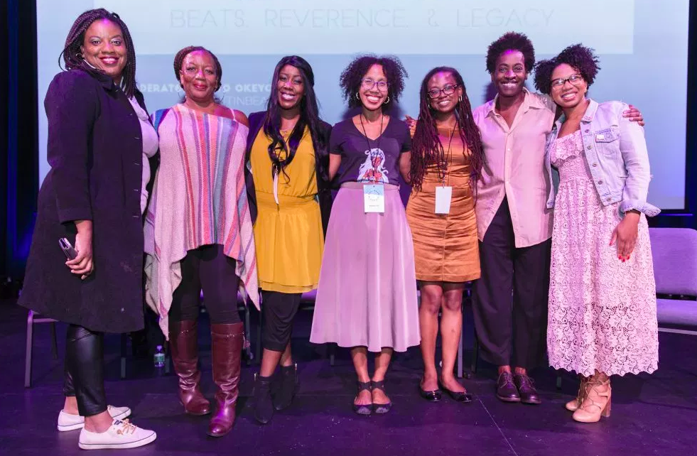 Jamia Wilson (fifth from left) at the Well-Read Black Girl Festival 2018.