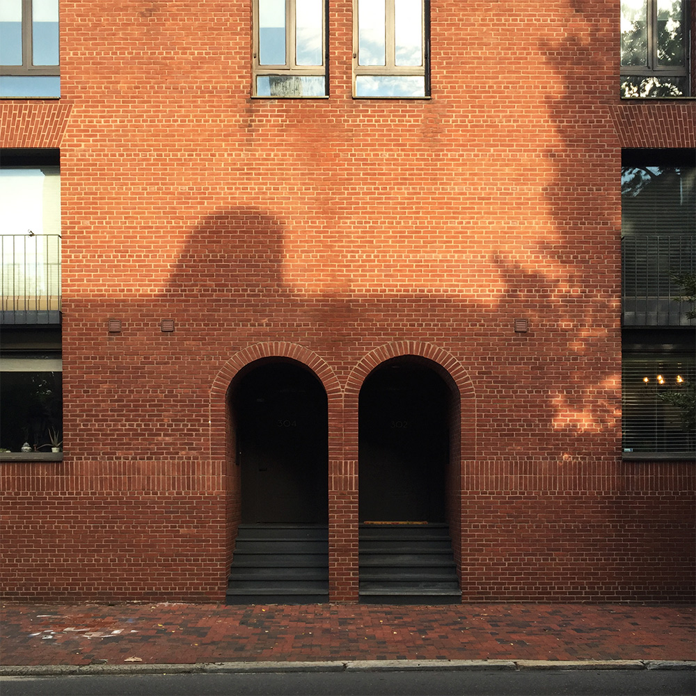 These arched doorways are a prominent geometry found in Society Hill.