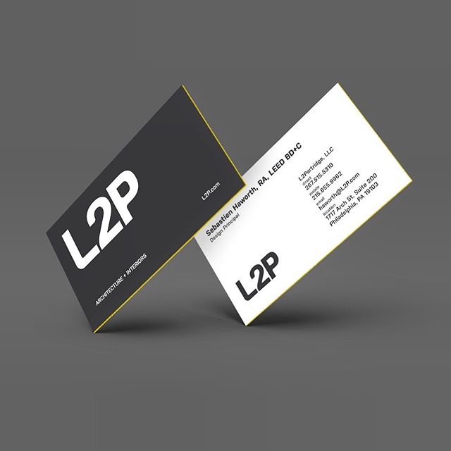 Business cards for the new corporate identity of L2P, an award-winning architecture and interiors firm. The identity is crafted to be strong, contemporary, and sophisticated.  _  #design #graphicdesigner #branding #creative #architecture #urbanism #designer #graphicdesign #brandingdesign #color #pantone #type #typeface #mockup #brandingidentity #problemsolving #modern #multidisciplinary #graphicidentity #logo #brooklyn #nyc #wayfinding #georgelittledesign