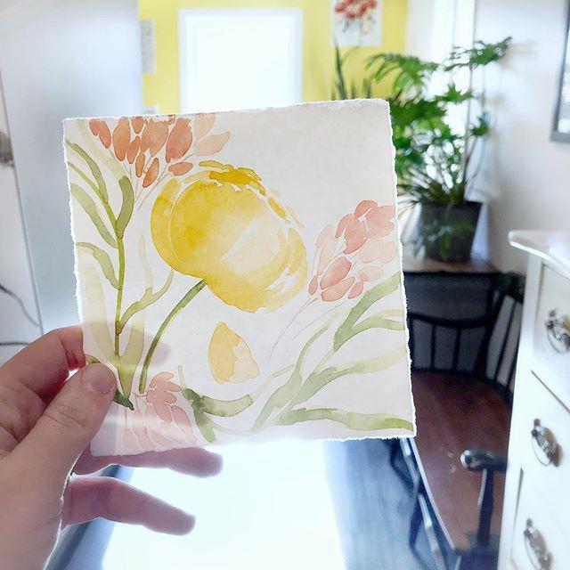 Flowers in the sun 🌼 . . . . . . . . . . . . . . . . . . . #illustratorsofinstagram #instart #illustration #childrensillustration #homedecor #decorinspo #kidlitart #painteveryday  #playful #womenwhodraw #whimsicalart #whimsical #watercolor #gouache #creativebug #makeart #dowhatyoulove #watercolorflorals #sunshine #artinthewild
