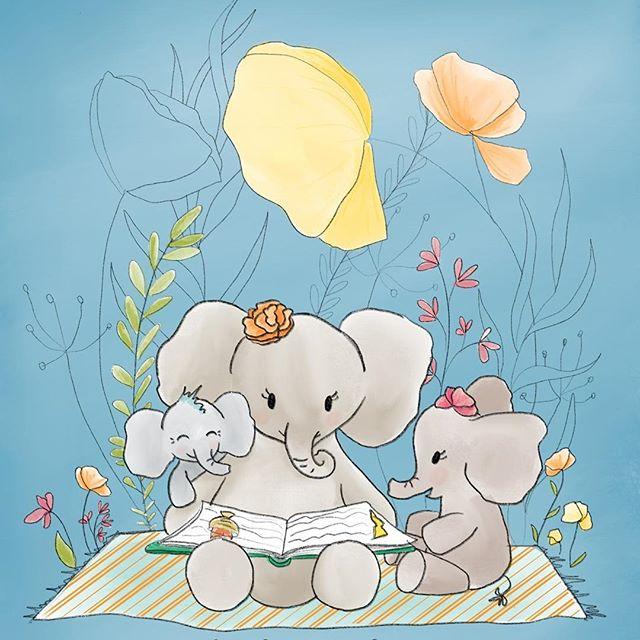 Custom elephant illustrations are my fav 🤗 . . . . . . . . . . . . . . #illustratorsofinstagram #instart #illustration #childrensillustration #homedecor #decorinspo #kidlitart #painteveryday  #playful #womenwhodraw #whimsicalart #whimsical #best_of_illustrations #childrenillustration #watercolor #gouache #creativebug #makeart #dowhatyoulove #momlife #elephant #elephantart #customillustration