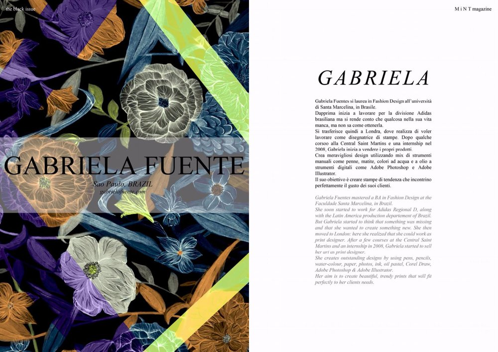 Mint Magazine -Italy featuring work of Gabriela Fuente
