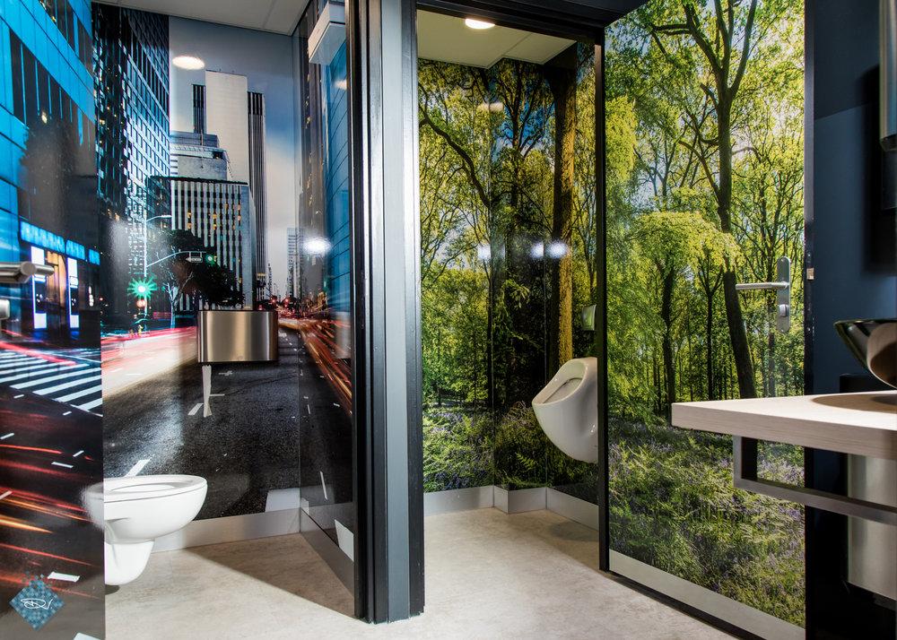 Een voorbeeld van een nieuwe toiletbeleving was daar inpandig ook te vinden....kies je voor een urban-boodschap of een 'wildplasje'? ;-)