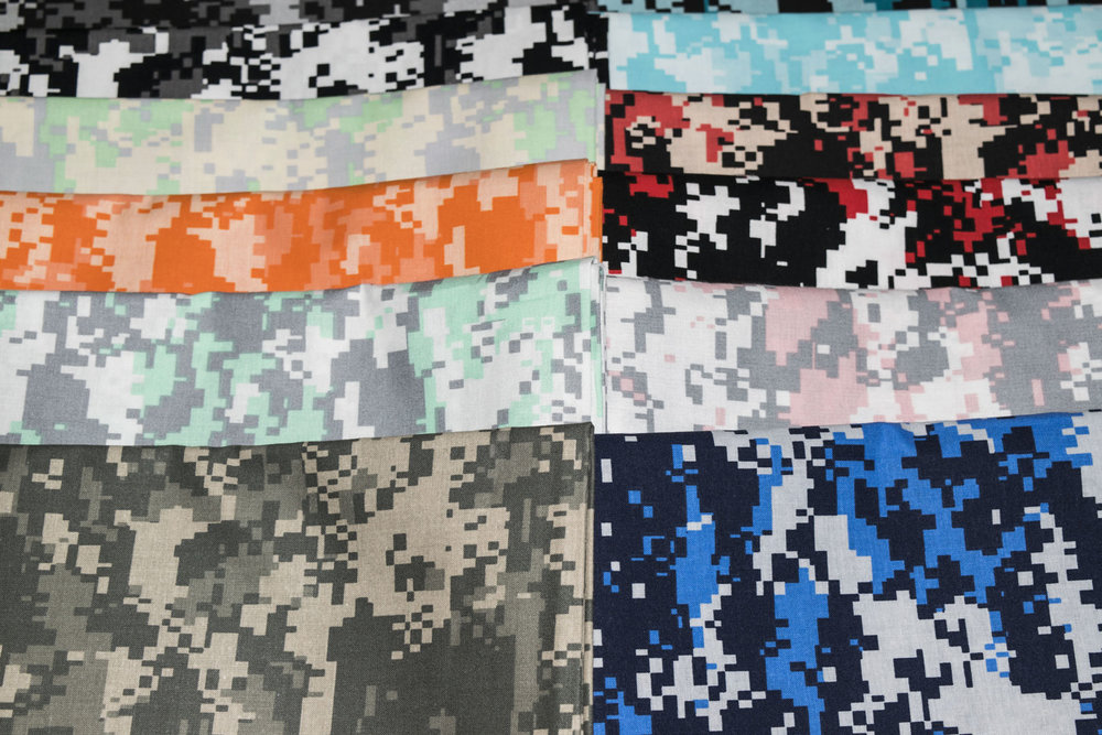 "SPW #197: Urban Camouflage (45"")   Our Urban Camouflage is finished at 44/45"" and is printed on our 68/68 100% Cotton Fabric."