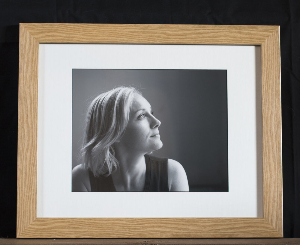 "10 x 8"" fine art print on Fotospeed cotton rag, in classic oak 14 x 11"" frame: £55"