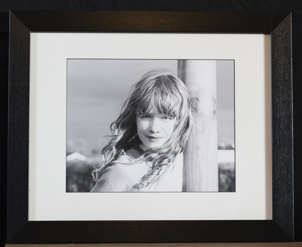 "10 x 8"" fine art print on Fotospeed cotton rag, in classic black 14 x 11"" frame: £55"