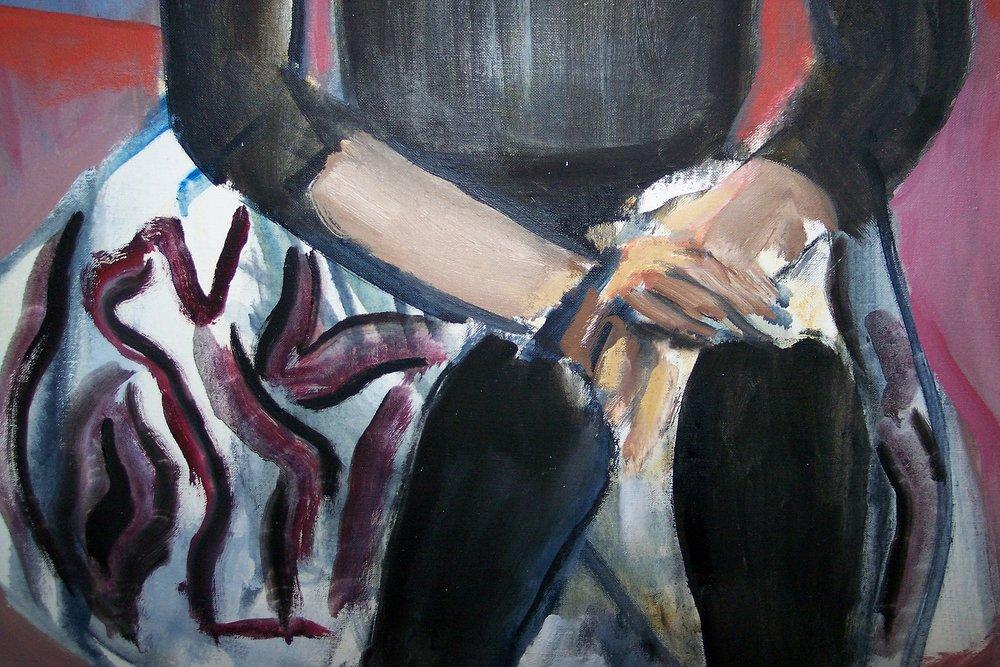 Portrait of the Artist, Corliss Block - Detail 2