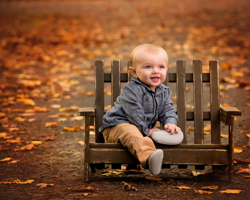 Fall Leaves Baby Photos in Akron
