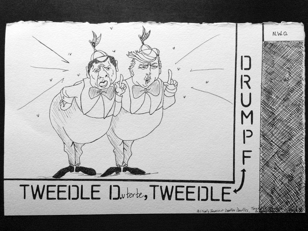 Tweedle D.(uterte) and Tweedle Drumpf
